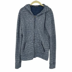 Threads 4 thought blue heathered recycled hoodie